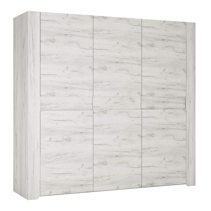 Angel 3 door Wardrobe | White Craft Oak