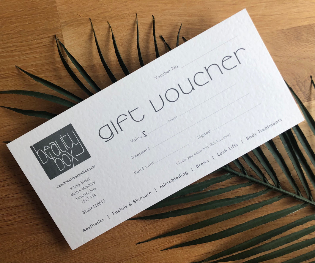 Gift Voucher - Beauty Box Experience Massage