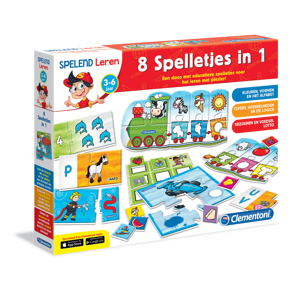 8 Educatieve spelletjes-in-1