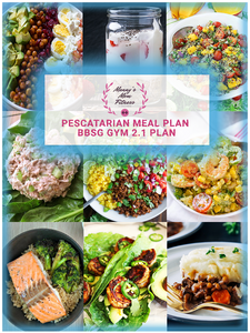 BBSG 2.1 Gym Bundle with Pescatarian Monthly Meal Plan and Custom Nutrition Guide