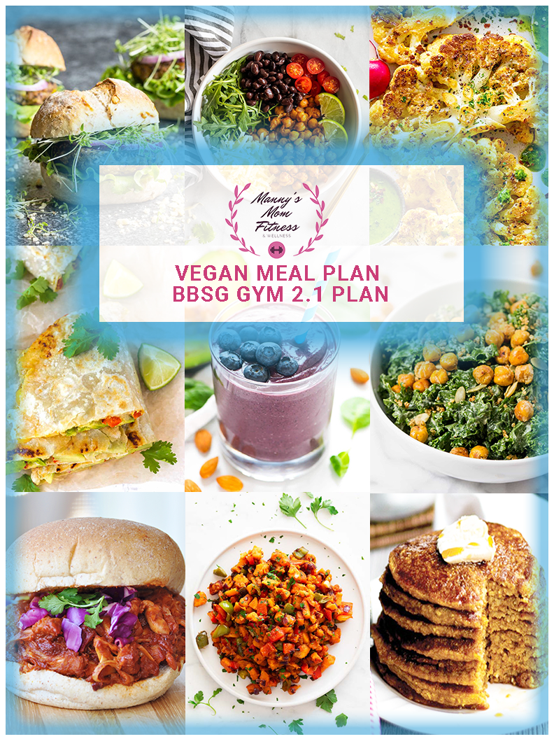 BBSG 2.1 Gym Bundle with Vegan Meal Plan and Custom Nutrition Plan