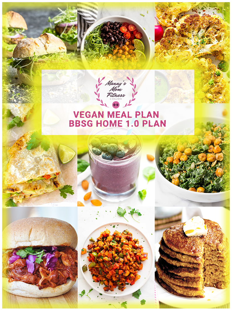 BBSG 1.0 Home Bundle with Vegan Meal Plan and Custom Nutrition Plan