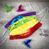 Reversible Quilted Cloth Face Mask (with Nose Wire) - Remarkable Rainbow