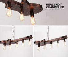 Load image into Gallery viewer, Retro guitar shape iron chandelier