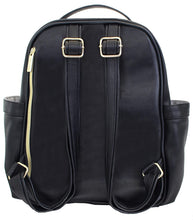 Load image into Gallery viewer, Black Itzy Mini Diaper Bag Backpack