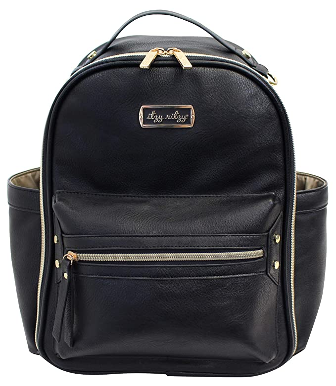 Black Itzy Mini Diaper Bag Backpack