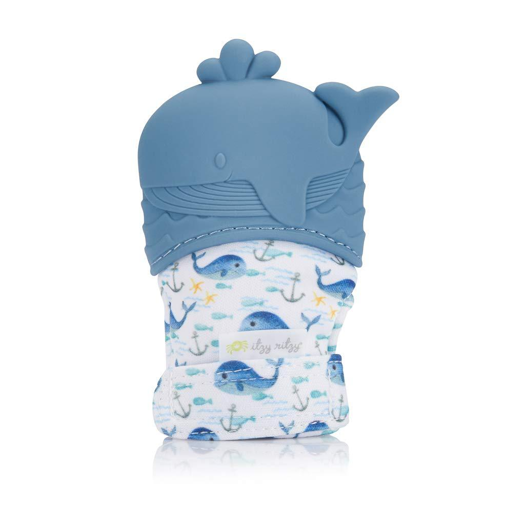 Silicone Teething Mitt - Whale