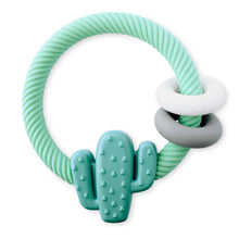 Load image into Gallery viewer, Cactus Ritzy Rattle Silicone Teether Rattle