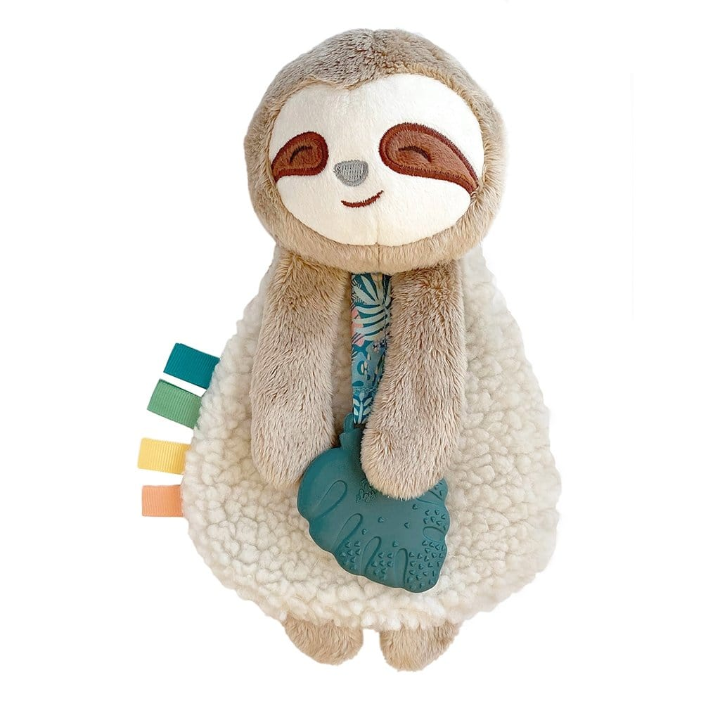 Itzy Lovey Sloth Plush with Silicone Teether Toy