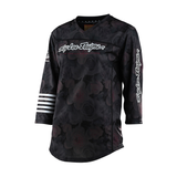 JERSEY TROY LEE DESIGNS WOMENS MISCHIEF 2021 FLORAL BLACK