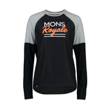 JERSEY MONS ROYALE WOMEN'S TARN FREERIDE LS WIND JERSEY 2020 BLACK/GREY