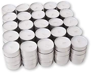 Pack of 100 White Unscented Tealights (4hr)