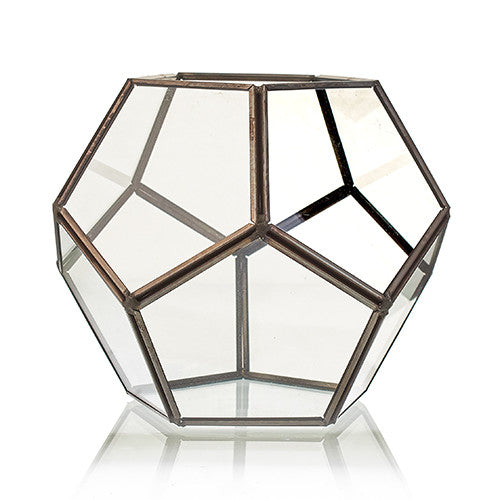 Large Octagon Glass Terrarium