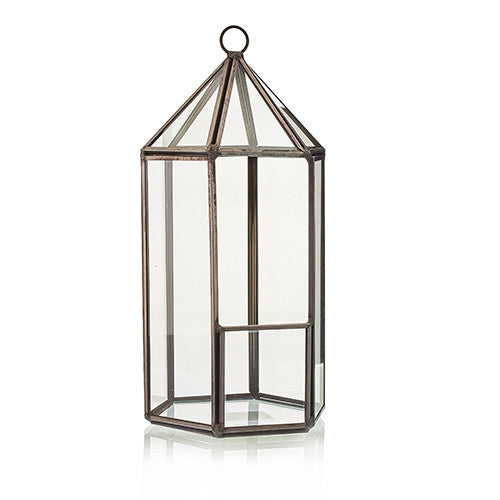 Lantern Shaped Glass Terrarium