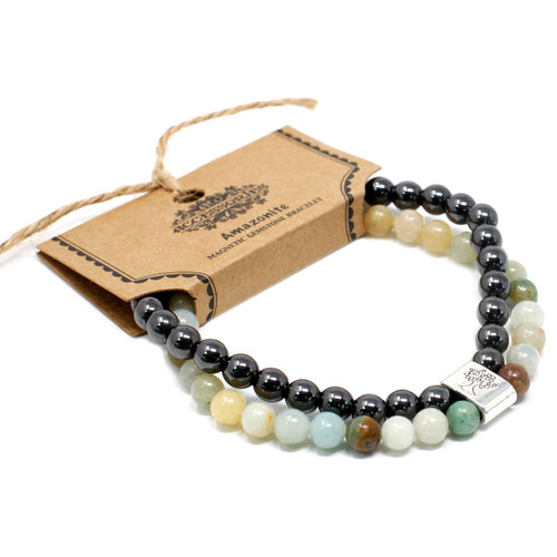 Amazonite Magnetic Gemstone Bracelet