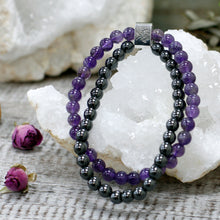 Load image into Gallery viewer, Amethyst Magnetic Gemstone Bracelet