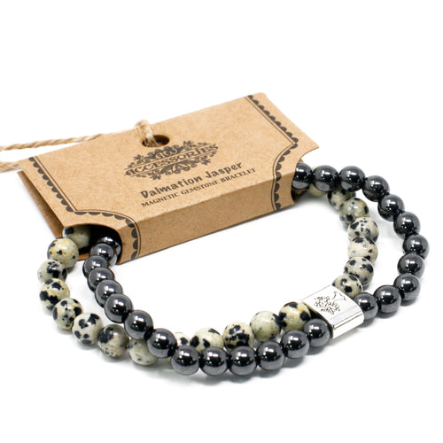 Dalmation Jasper Magnetic Gemstone Bracelet