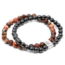 Load image into Gallery viewer, Leopard Skin Magnetic Gemstone Bracelet