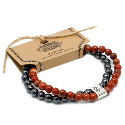 Redstone Magnetic Gemstone Bracelet