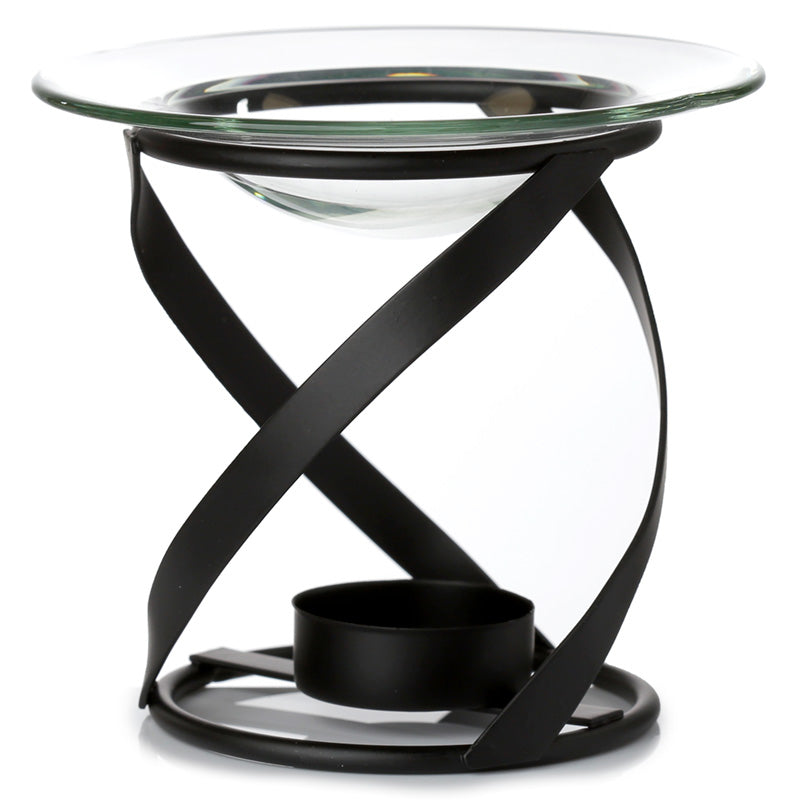 Thick Spiral Oil Burner with Glass Dish