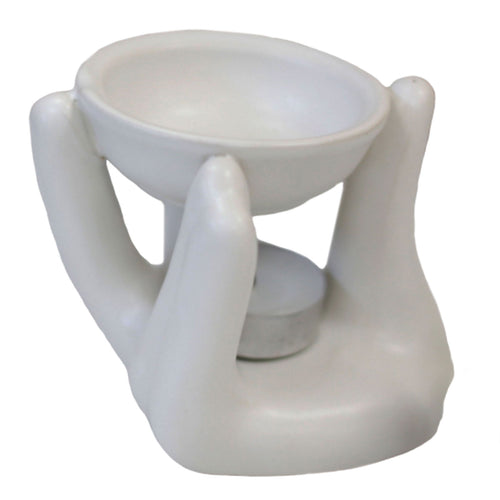 Open Hand Oil Burner - White 1
