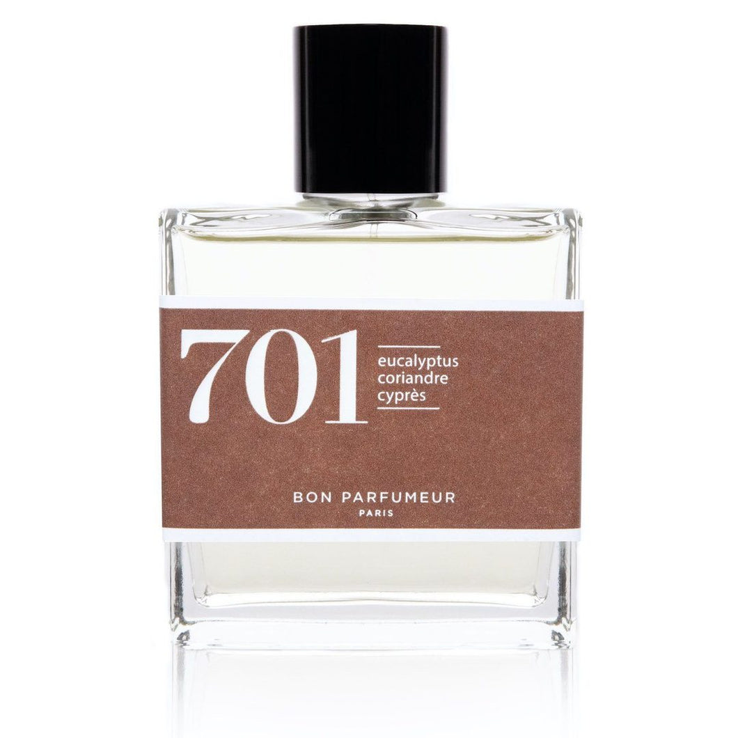 Eau de parfum 701: eucalyptus, coriander and cypress 30ML