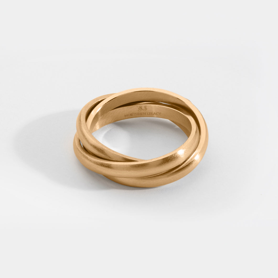 Helix band ring - Gold tone