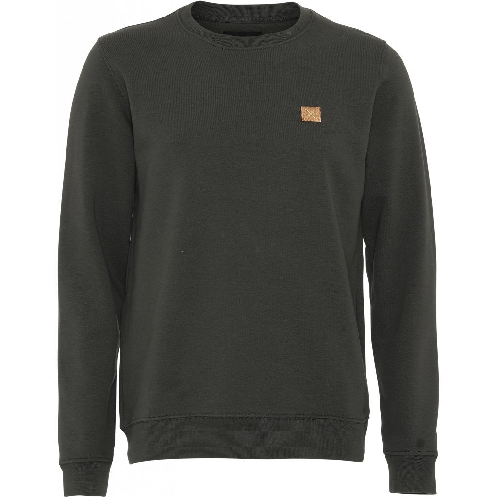 Basic Organic Crewneck Sweatshirt Army