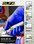 OLFA SK-14 Semi-Automatic Stainless-Steel Self-Retracting Safety Knife Product Sell Sheet Image