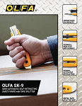 OLFA SK-9 Semi-Automatic Self-Retracting Safety Knife with Tape Splitter Product Sell Sheet
