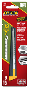 OLFA 9mm 180 Metal Precision Knife in package