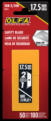 OLFA SKB-2/50 SKB-2 Dual-Edge Safety Blade shown in package. Pack of 50 (100 edges)