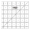 "QR-6S 6 1/2"" Square Frosted Acrylic Ruler"