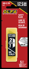 OLFA SKB-2/5B SKB-2 Dual-Edge Safety Blade. Shown in package. Pack of 5 (10 edges).