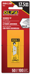 OLFA RSKB-2/50 Round Tip Dual-Edge Safety Blades in package