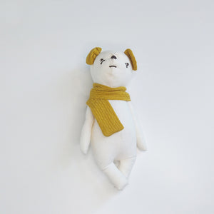Bio-Cotton Bear Soothing Doll Mustard