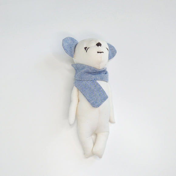 Bio-Cotton Bear Soothing Doll Blue