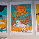 The Sun Tarot Printed Cotton Tapestry