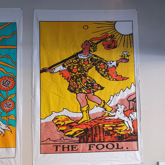 The Fool Tarot Printed Cotton Tapestry