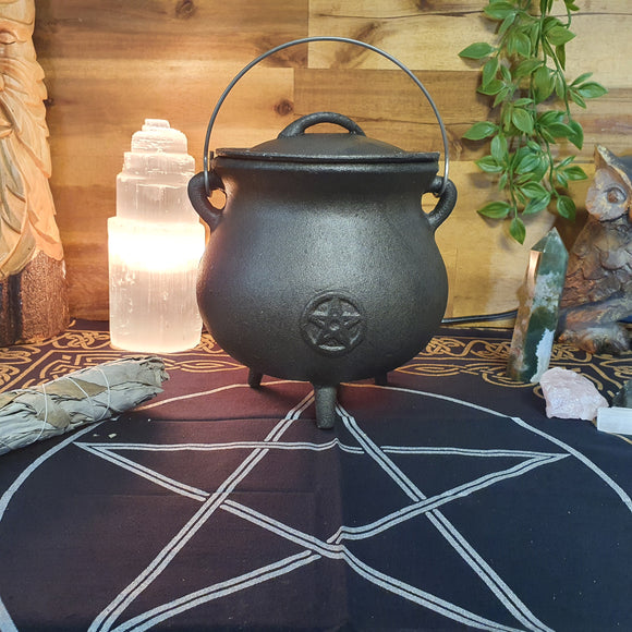 Pentacle Cast Iron Cauldron - Large