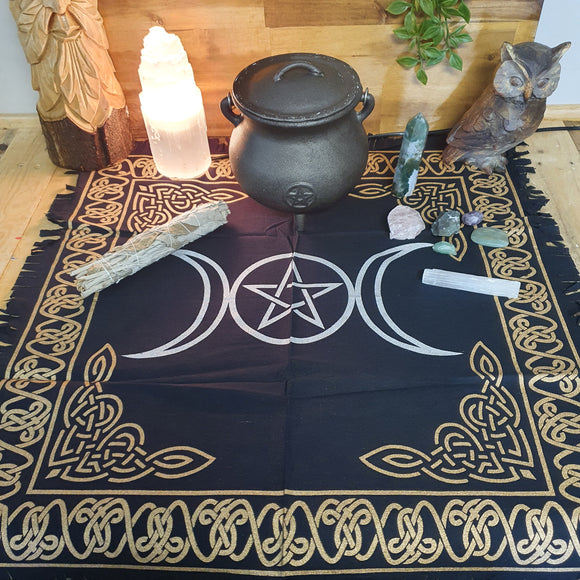 Triple Moon Altar Cloth