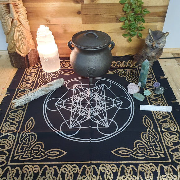 Metatron's Cube / Sacred Geometry Altar Cloth
