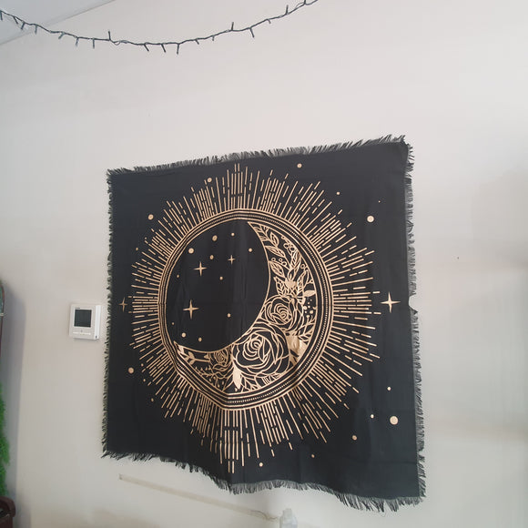Floral Moon Altar Cloth