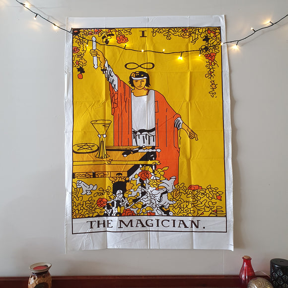 The Magician Tarot Printed Cotton Tapestry