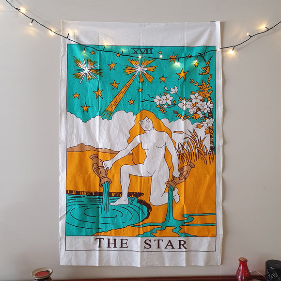 The Star Tarot Printed Cotton Tapestry