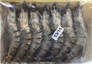 Frozen Giant Tiger Prawns (Shell on) - 1kg