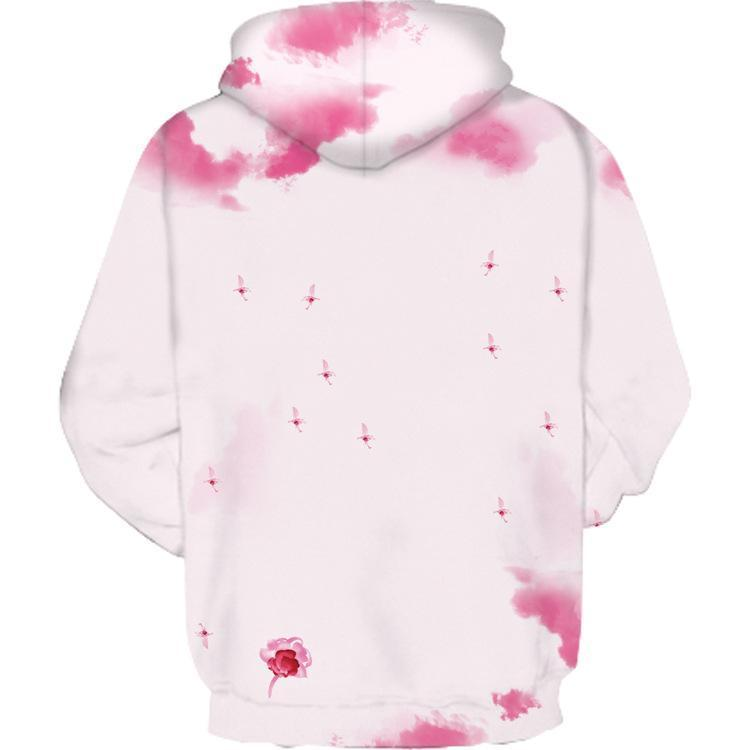 """Spring"" Unicorn Printed Couple Hooded Sweater"