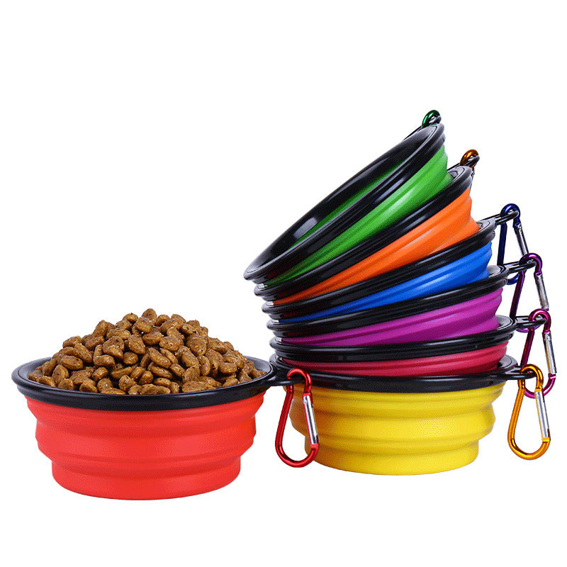 Large Collapsible Pet Silicone Bowl