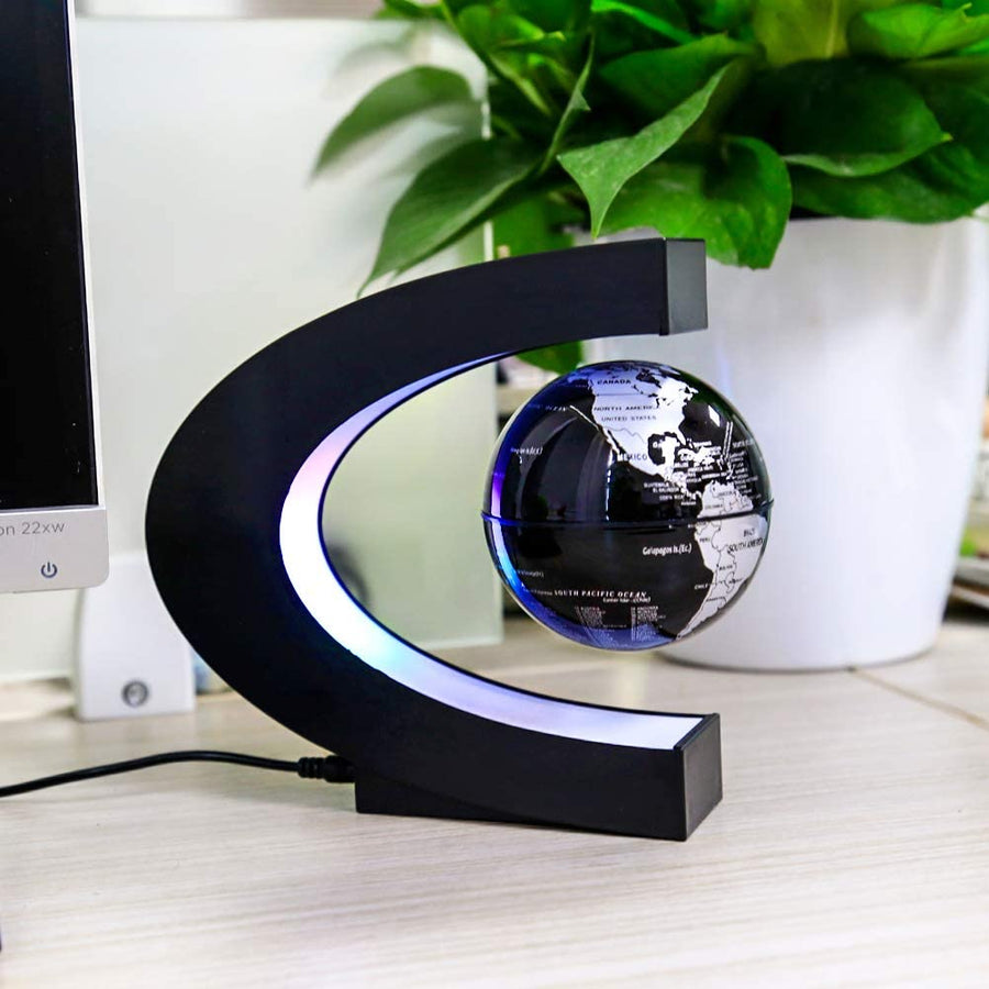 Led Light C-shaped Magnetic Levitation Globe