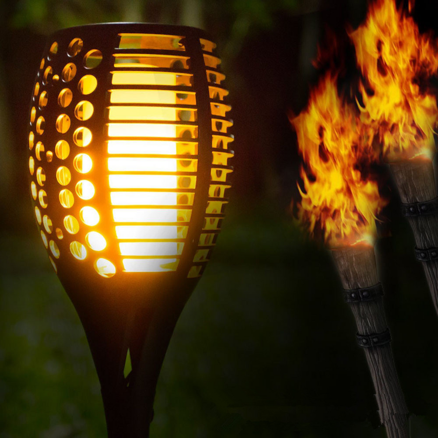 Solar-Powered Flame Torch Light-Buy More Save More